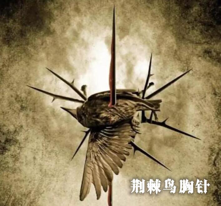 荆棘鸟胸针