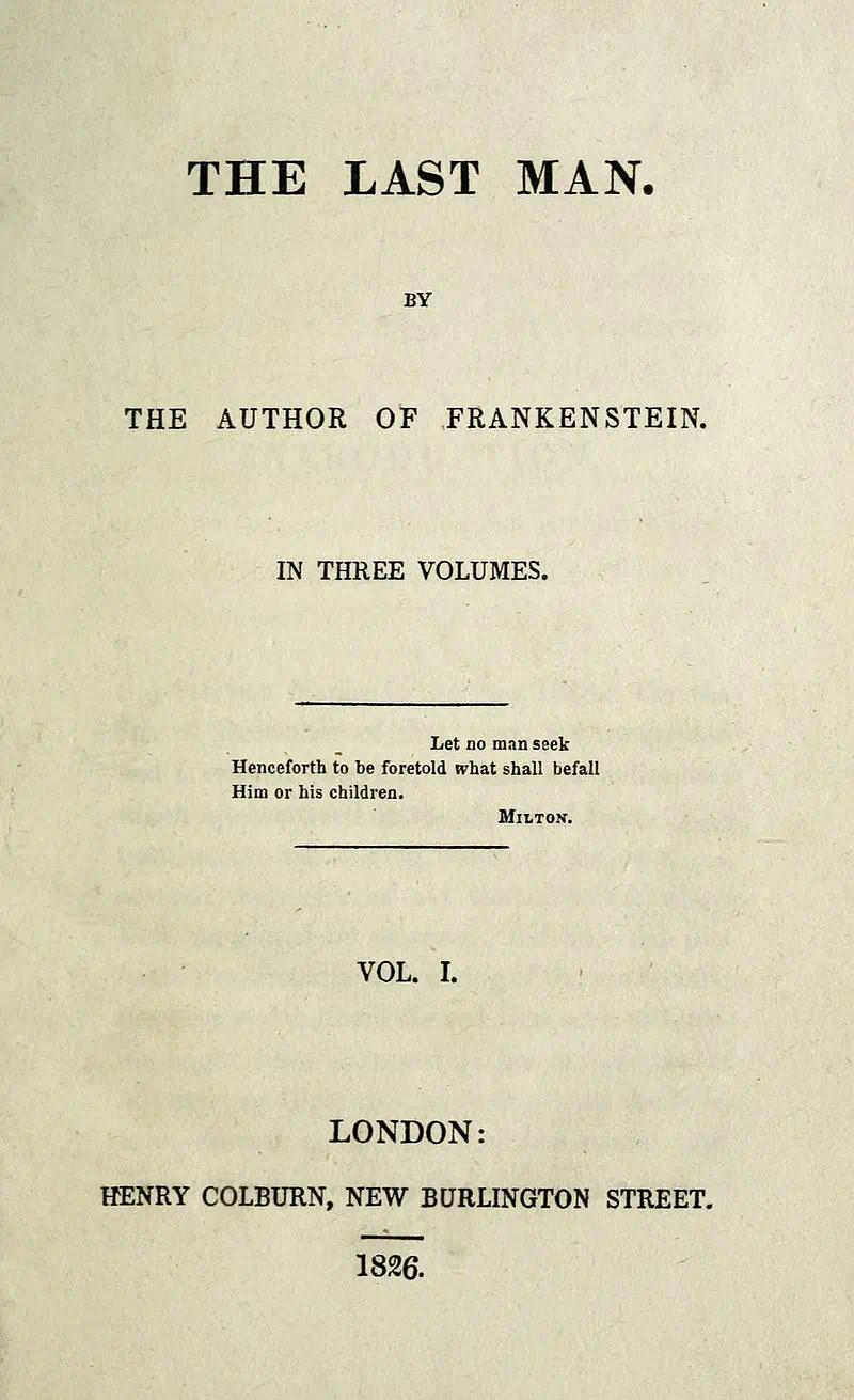 1826年版《最后一人》