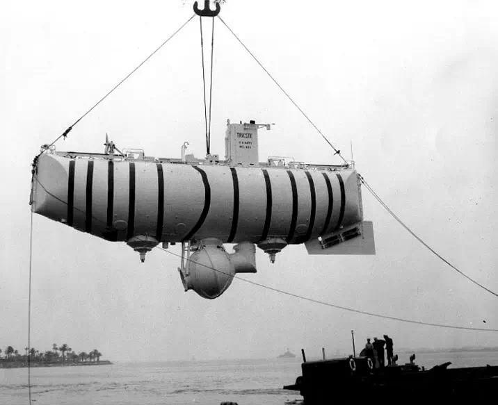 """""""的里雅斯特""""号巴奇斯科夫型深水潜艇(深潜器)"""